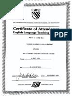 Tameem UK Certification
