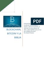 Blockchain Bitcoin and the Bible ( Spanish)