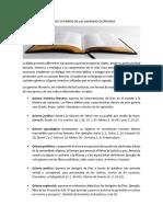 Análisis Literario de Las Sagradas Escrituras