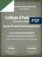 Vesper - Lapu-Lapu Church (Participation)