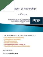1. Curs Manageri Si Leadership - 15 Decembrie 2017