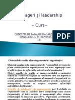 2. Curs Manageri Si Leadership - 16 Decembrie 2017