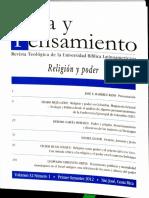 Religion y Poder en Colombia