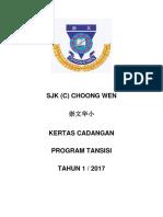Kertas Cadangan Program Transisi 2017