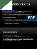 Econometrics Handout