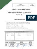 Pts-001 Aislamiento y Bloqueo - Firmado
