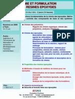 Chimie Des Resines Epoxydes 2010
