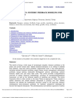 Systemic Feedback Modeling for Policy Analysis Using System Dynamics Concept