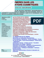 Formation Continue Polymeres & Cosmetiques