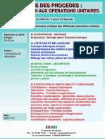 Genie Des Procedes Introduction Aux Operations Unitaires 2010