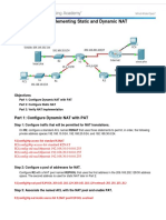 9.2.3.6 Packet Tracer - Implementing Static and Dynamic NAT Instructions