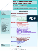 Introduction Methode HACCP 2010