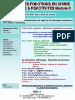 Principales Fonctions en Chimie Organique II 2010