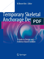 Temporary Skeletal Anchorage Devices a Guide to Design and Evidence-Based Solution