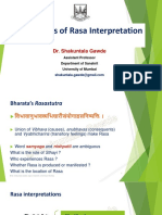 Theories of Rasa Interpretation Presentattion