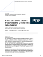 Yasser Farres y Alberto Mataran (2014). Hacia Una Teoría Urbana Transmoderna y Decolonial_ Una Introducción