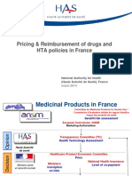 Pricing Reimbursement of Drugs and Hta Policies in France