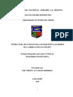 Costo de Produccion Ganado Vacuno Lechero