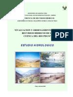 Estudio Hidrologico Pisco