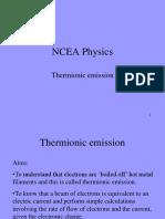 Thermionic Emission