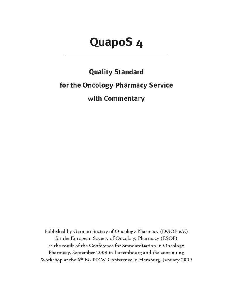 Quapos 4 | Dangerous Goods | Pharmacy
