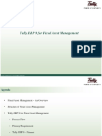 Tally ERP 9 for Fixed Asset for Depreciation