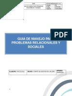 Guia Manejo Problemas Relacionales y Sociales PDF