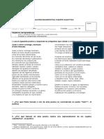 Evaluación Diagnóstica Literatura e Identidad 4to Electivo