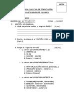 Ejemplo de examen - computación
