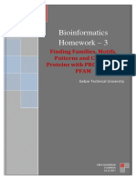Finding Families, Motifs, Patterns and Clans of Proteins with PROSİTE and PFAM
