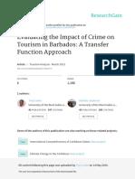 PublishedPaper-EvaluatingtheImpactofCrimeonTourisminBarbados-ATransferFunctionApproach