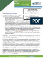 Arizona PT-PTA License
