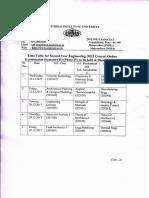 Time Table for SE (2012) Online Dec 17 Sem II Phase IV Exam_05102017