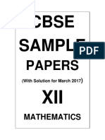 12 Mathematics Sample Papers Demo