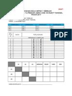 Draft Jadual Pertandingan