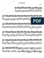 G Minor - Bach