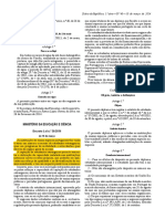 Decreto Lei n 36 2014 de 10 de Marco - Regulamenta o Estatuto Do Estudante Internacional