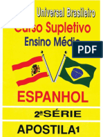 Espanhol 2ª Série - Apostila 01