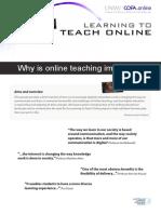Why Teach Online