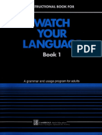 Watch Your Language Text 1 (Wat - Brian Schenk