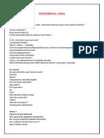 Pediatrics Oral Exam