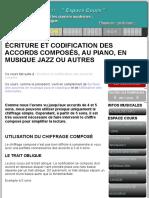 LES ACCORDS COMPOSÉS 9e 11e 13e, LEUR ÉCRITURE AU PIANO