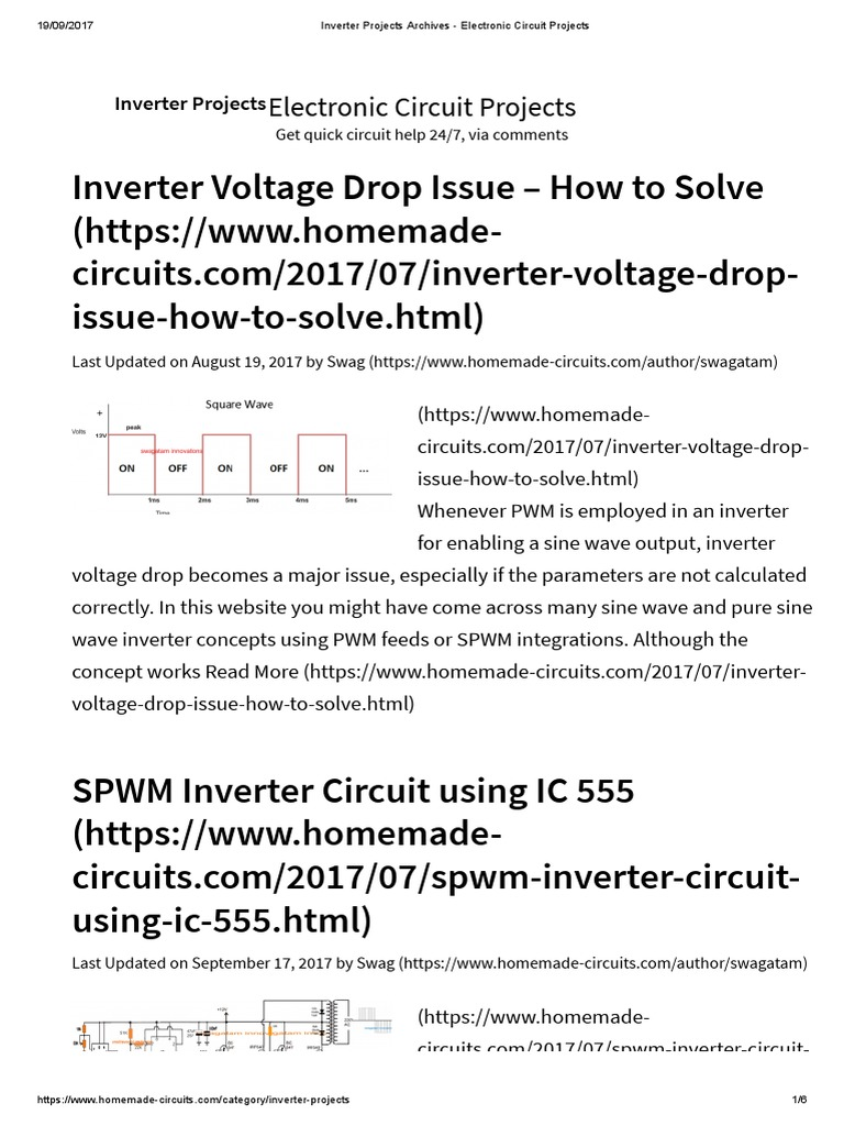 Inverter Projects Archives Electronic Circuit Power And Force