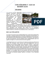 Residuos Sólidos y Aguas Residuales