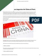 Cinco Claves Para Importar de China Al Perú