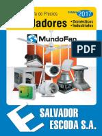 Catalogo Tarifa Mundofan 2017