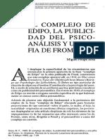 El Complejo de Edipo, La Publicidad Del Psicoanálisis y Una Pifia de Fromm