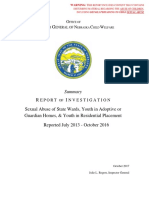 Oct 2017 OIG Child Sexual Abuse Report Summary