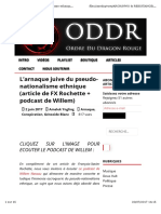 2017-L'Arnaque Juive Du Pseudo-nationalisme Ethnique (Article de FX Rochette