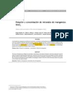 Flotación y Concentración de Minerales de Mn